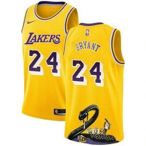 Los Angeles Lakers 24 Kobe Bryant Gold Jersey 1